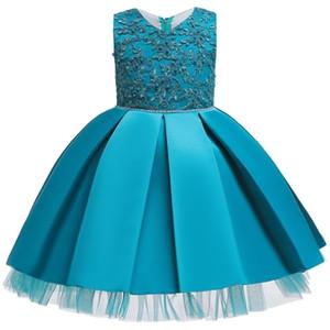 Hetiso menina elegante vestido Applique Crianças Festa de casamento vestidos para meninas Princesa vestido de baile de Carnaval Roupa das Crianças 6M-7 Anos 0926