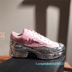 Moda Uomo sovradimensionato Sneakers suola leggera Ozweego tennis femminile formatori piani casuali bassi migliori Raf Simons Sneakers con box K06