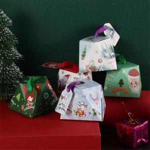 50PCS 크리스마스 캔디 박스 파티 크리스마스 장식 홈 초콜릿 상자 결혼 선물 손님 생일 파티 장식을 부탁