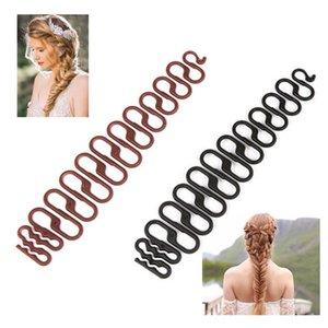 Professionnel multi style bricolage femmes cheveux Tressage Crochet Roller Avec Magic Maker Twist Noir Accessoires cheveux tresser Outils de cheveux