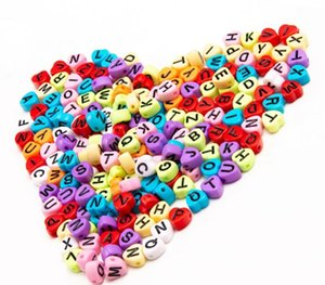 Heart Shaped Loose Beads Acrylic Beads Letter Beads Heart Shaped Childlike Heart Ms. Cute Children s Jewelry Accessories Bracelet33