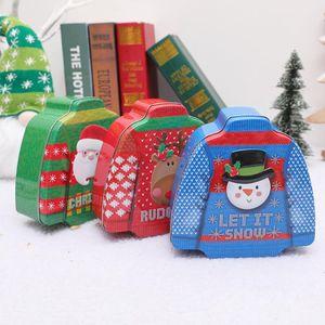 Criativas de Natal flandres Roupa Shaped presentes caixa dos doces caçoa a decoração Caixa de Natal Partido Goody favor Gift Bags Xmas Party Decor