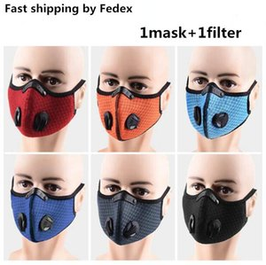 Cycling Face Mask Activated Carbon with Filter PM2.5 Anti-Pollution Sport Running Training MTB Road Bike Protection Dust Caps DHC31