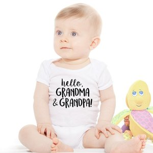 0-24M Baby Rompers Cotton Newborn Baby Boys Girls Jumpsuit Onesie Clothing Christmas Outfit Hello Grandma And Grandpa