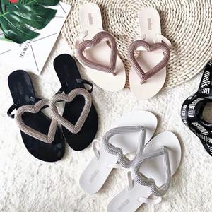 Hot venda- falhanço Big praia coração Sapatos Mulheres Plano Sandals Marca Melissa sapatos para as mulheres Jelly Sandals Feminino Jelly