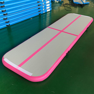 Hot Sale Cheer Track 3 * 1 * 0,1 m Air Track-Matte mit Pumpe Home Use Air Bodenschiene Inflatable Bouncing Mat Tumbling Mat Gym Matratze