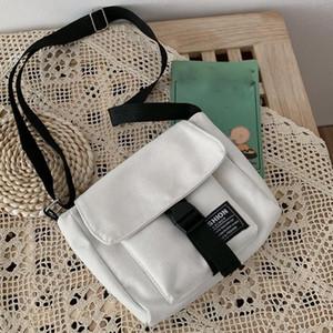Large Capacity Canvas Handbag Single Shoulder Sport Outdoor Bags For Travel Candy Solid Color Fashion Women's Handbags Hasp