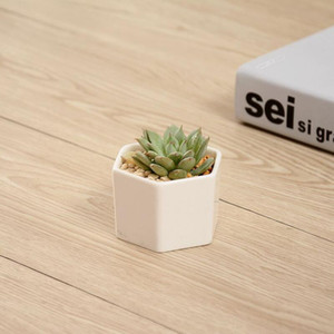 pots à bonsaï en céramique gros mini porcelaine blanche fleures fournisseurs pour l'ensemencement maison succulentes intérieur planteurs de pépinière HHB1706