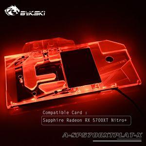 Bykski vollständige Abdeckung GPU Wasserkühlblock für Saphir Radeon RX 5700XT Nitro + Karte, RGB / A-RGB-Licht A-SP5700XTPLAT-X