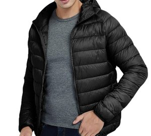 Men's Overcoat Men Casual Autumn Winter Style Light Weight Feather Down Cotton Hooded Coat Mens Tops Blouse Jackets66