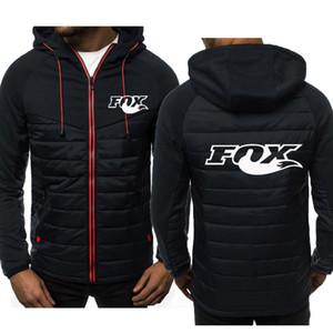 Hoodie men's fox print sweatshirt autumn and winter new style men's hooded jacket fashion casual zipper hoodie men's shirt M-3XL 200923