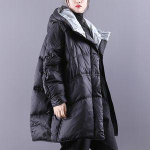 Janveny inverno giù ricoprono le donne Puffy casacca addensare Warm 90% Bianco anatra Down Jacket femminile parka inverno Fluffy Coat T200908