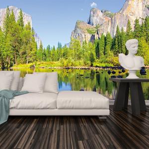 Custom 3D Photo Wallpaper 3D Photo Wallpaper Beautiful Waterfall Large Murals Living Room Sofa Bedroom Background Wall Mural Pared