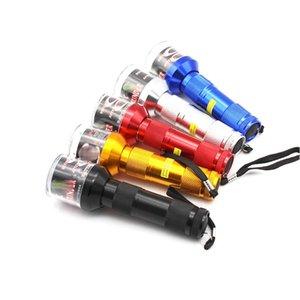 DHL 무료 토치 모양의 전기 그라인더 크러셔 허브 담배 향신료 연기 그라인더 기화기 클릭 N Vape 신속한 알루미늄 14.5cm