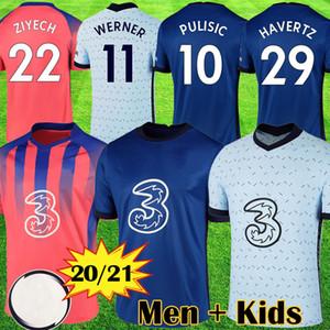 Camiseta Chelsea FC 2020 2021 kits KANTE PULISIC WILLIAN LAMPARD ODOI JORGINHO camiseta de fútbol 20 21 HOMBRES NIÑOS GIROUD Camiseta de football tops maillot Uniforme