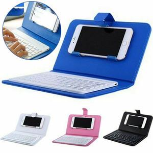 صغيرة محمولة لوحة المفاتيح اللاسلكية بلوتوث مع حقيبة جلد للحصول على الهاتف الذكي