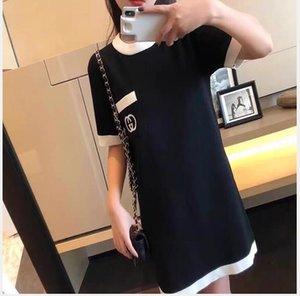 2020 web celebrity abito in maglia ricamato temperamento alla moda di medio lunga casuale progettista abito gonna della donna libera il trasporto