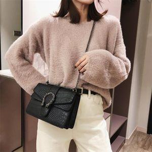 Luxus-Handtaschen-Frauen-Beutel Designer Mode Chians Geldbeutel und Handtaschen Alligator-Schulter Crossbody Beutel für Frauen Sac A Haupt C19032701