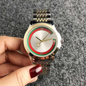 Brand кварцевые наручные часы для стиля металла стальной полосы Мужчины Женщины Девушка часы 53