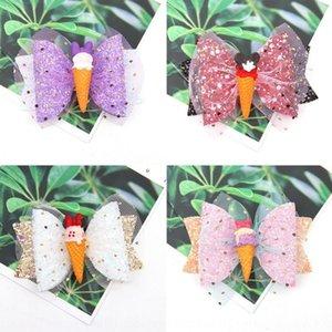 ENGze Sıcak satış parıltı örgü aksesuarları çocuk pruva saç tokası bebek dondurma Aksesuarları Ice Cream headdress