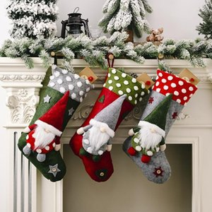 Christmas Stockings Soft Comfortable Santa Clause Gift Card Bags Holders For Christmas Tree Decorations