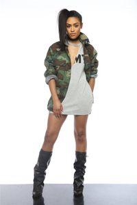 Apparel USA Army Camouflage Women Coats Button Long Lapel Designer Trench Women Coats Boyfriend Style Women