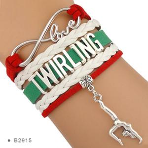Infinity Amore Twirling Majorette Bastoni regalo per Twirlers Ballerina Ballet Bracciali per le donne
