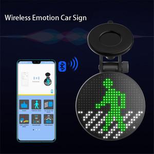 Bluetooth sans fil voiture signe LED drôle émotion lumière programmable Affichage du message Conseil APP Siri Accessoires Compatible pour IOS Android
