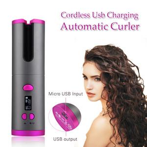 Curling automatique sans fil en céramique cheveux Fer Waver tenailles Plage Waves fer à friser Baguette Air Bigoudi USB sans fil automatique bigoudi