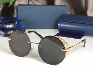 New Fashion C68S Sunglasses For Women Designer Wrap Square Frame UV400 Protection Lens Carbon Fiber Legs Summer Style Top Quality Case