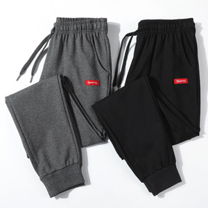 Cotton New Sweatpants Men's streetwear Pants Fashion Pencil linen Pants Men Full Length Drawstring Trousers For Men Casual