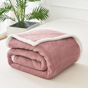 Mantas suave cama Sofá Cubierta Cobertor manta del tiro de invierno cálido y acogedor Colcha Manta de piel de cordero gruesas mantas polar en camas Deken