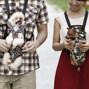 Dog Fashion Couleur Rouge Carriers Sac à dos pour chien Voyage Sac Respirant Pet Pet Puppy Porte-Cadeaux de Noël Fournitures