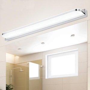 Cgjxs LED Espejo de baño Lámparas de pared impermeable espejo del gabinete de la lámpara moderna simple de acero inoxidable lámpara de pared Vanidad Luz Led de luz F