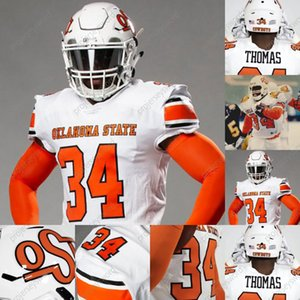 Oklahoma State Cowboys 1987 Thurman Thomas Jersey Ethan Bullock Shane Nolan Illingworth Mclean Spencer Sanders Shaun Taylor Peyton Thompson