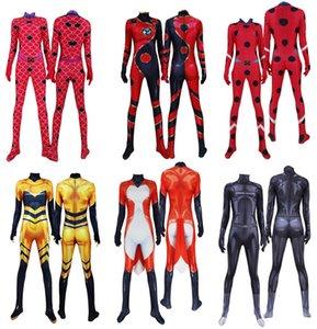 Anime Queen Bee Ladybug Cat Noir Dragon Bug Rena Rouge Cosplay Costumes Zentai Bodysuits Halloween Party