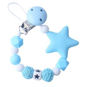 Bebé de silicona Chupete Chupete clip colorido de la cadena ficticias Clips para la dentición del bebé Chupete juguete del Chew