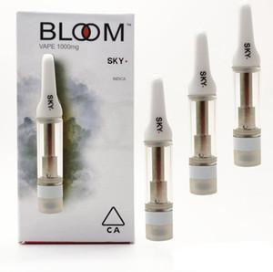 Bloom Vape Cartridges 0.8ml Ceramic Coil Vape Carts 510 Thread Carts 1.6mm Oil Hole E-Cigarettes Vaporizer Cartridges Free Shipping