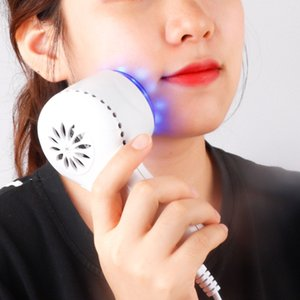 Blue Light Face Treatment Machine For Wrinkles Skin Tightening Shrink Pores Anti Aging Cold Hammer Cryotherapy Ice Healing Tools