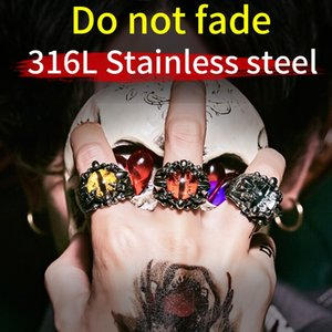 Beier new store Eye of the evil spirit ring top quality Claw Fake Eye Ring Men's Punk Party fashion jewelry LLBR8-203R