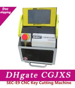 Dhl Free Shipping Sec -E9 Cnc Automatic Key Machine Key Cutting Machine Auto Key Duplicate Machine With Cutter  Genuine Software Check Teeth