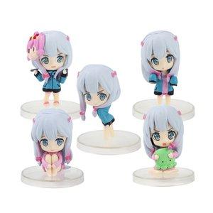 5pcs set Eromanga Sensei Izumi Sagiri Mini Cute Figures Toys Collectible Model Toys Car Deco Dolls