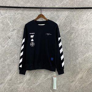 осень 2020AW OFF и зимой белая печать OW свободный случайные спортивные шею Hoodie мужчины и женщины с длинным рукавом фуфайки FC 807-01