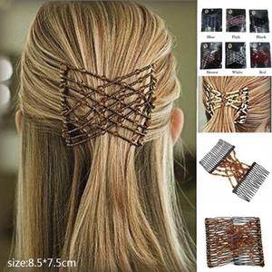 2020 мода бусина удобные аксессуары для волос девушки жемчужные волосы расчески двойные волшебные слайд металлические гребные клипы шпильки для женщин