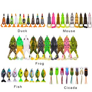 Propeller Fishing Lure Trembling Duck Mouse Frog Cicada Fishing Bait 10cm 13.5g Hard Artificial Bionic Swimbait Crankbait Lure Tackle