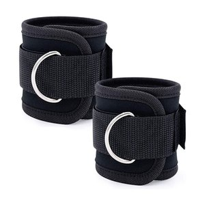 2 Pcs Fitness Ankle Straps,Ankle Workout Straps for Exercise with Fitness Equipment,Adjustable D-Ring Resistance Straps