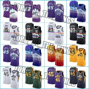 Denverpepitas15 Nikola Jamal 27 Jokic Murray jerseys de UtahJazzJersey Donovan Mitchell 45 jerseys del baloncesto rápido