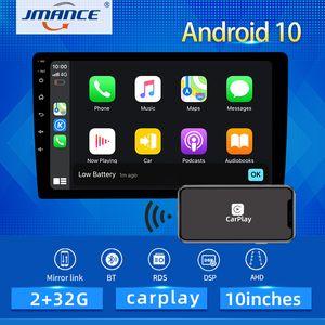 JMANCE 10 بوصة 4G شبكة DSP RDS الروبوت 10 الوسائط المتعددة هيفي فيديو لاعب GPS راديو الملاحة سيارة ستيريو واي فاي BT Carplay أنتو AHD سيارة دي في دي