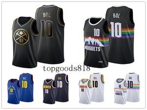 Denver\rNuggets\rMEN Bol Bol #10 Black City\rNBA Golden basketball Jersey
