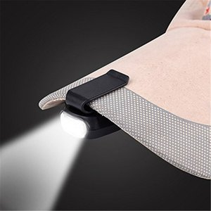 Cgjxs 3led del faro della luce della protezione rotativo da 90 gradi clip -Su Cappello Luce Hands Free Bright Lamp capo Lanterna Camping Ciclismo